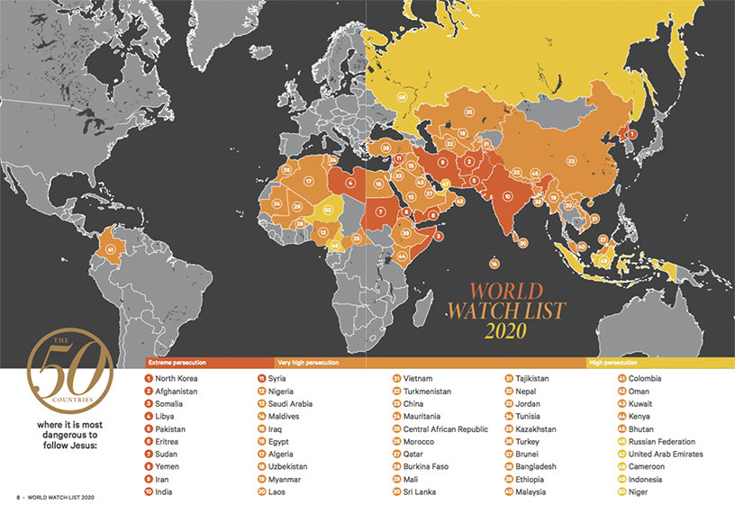 World Watch List 2020 Map