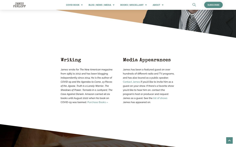James Perloff Website Redesign-2