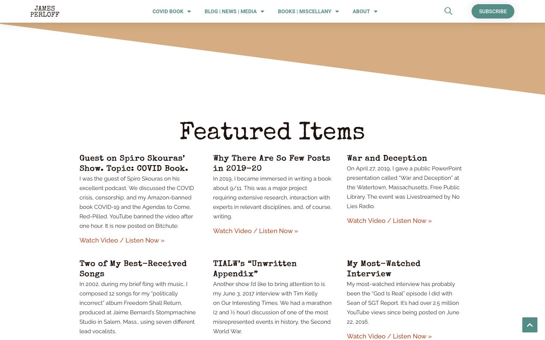 James Perloff Website Redesign-5