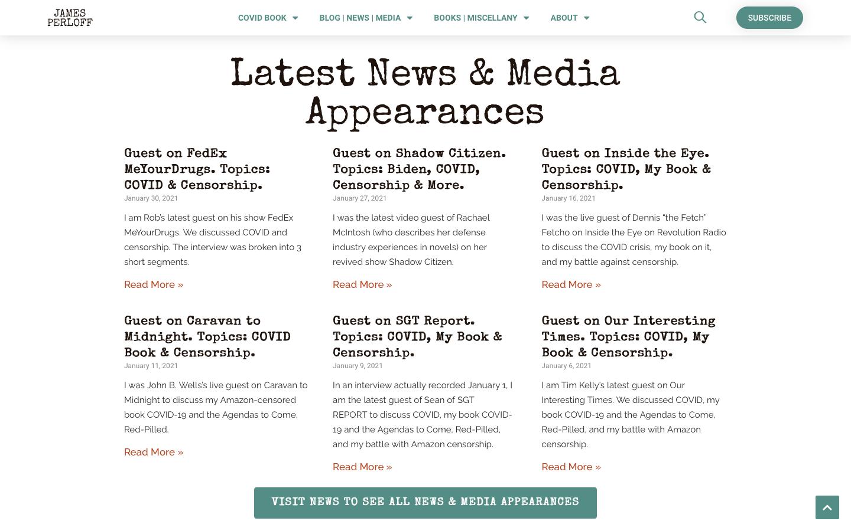 James Perloff Website Redesign-7