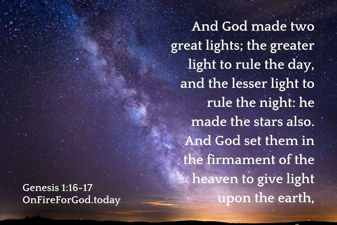 Genesis 1:16-17