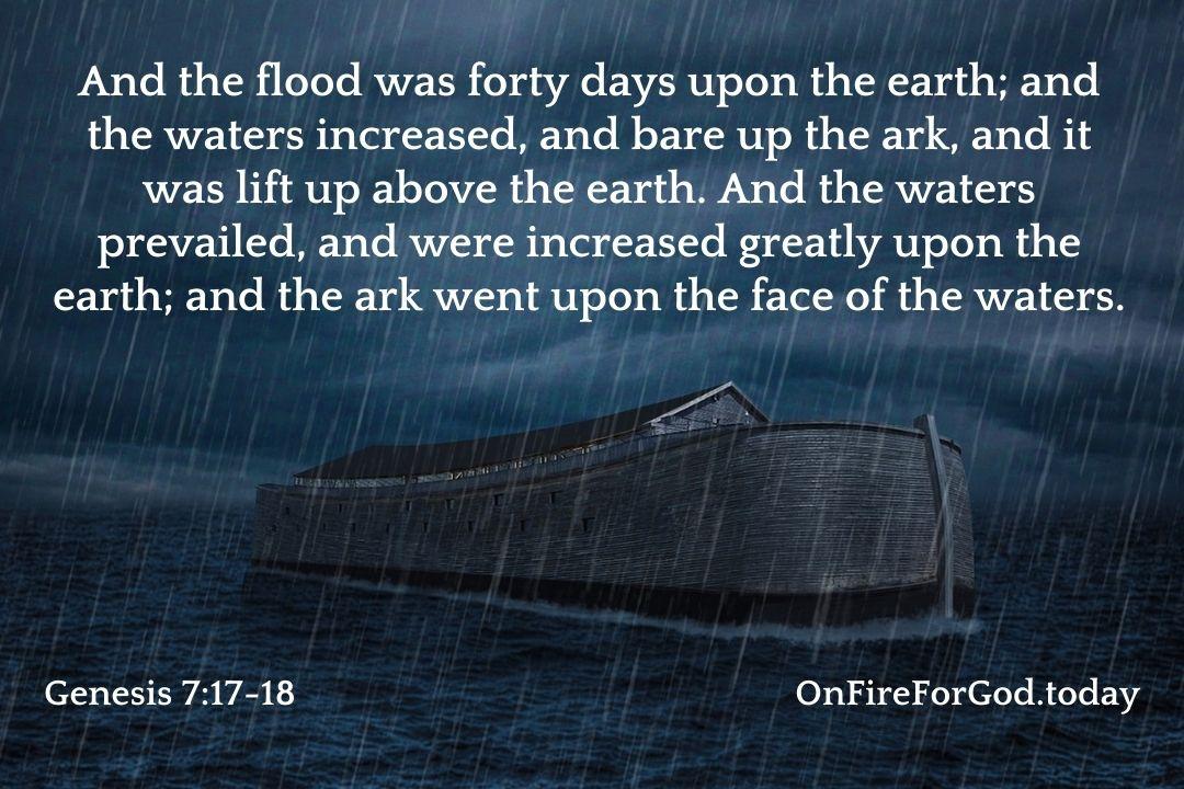 Genesis 7:17-18