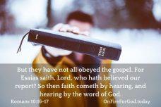 Romans 10:16-17