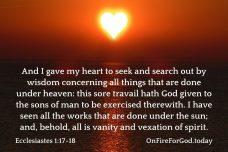 Ecclesiastes 1:17-18