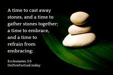 Ecclesiastes 3:5