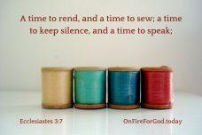 Ecclesiastes 3:7