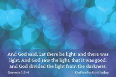 Genesis 1:3-4
