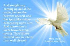 Mark 1:10-11