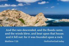 Matthew 7:25