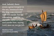 Matthew 8:24