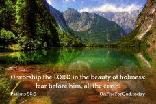 Psalms 96:9